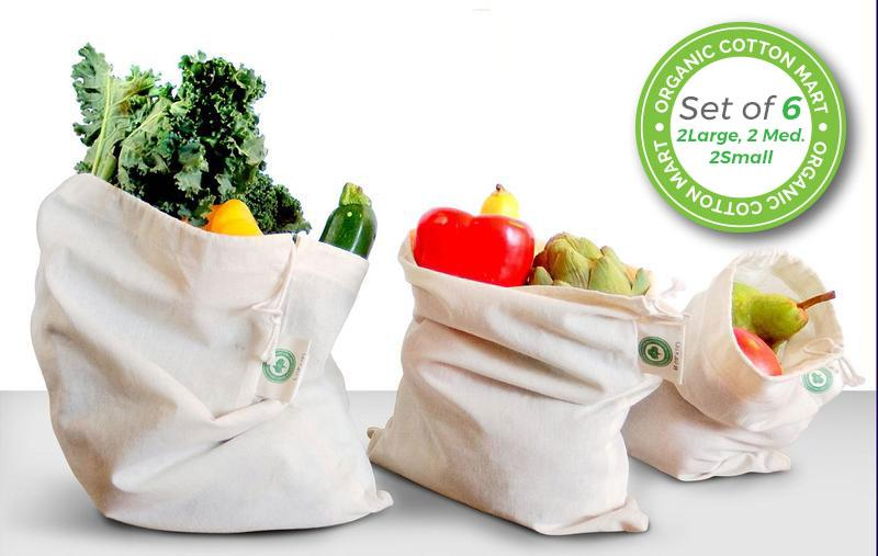 Reusable Produce Bags Made From 100 Organic Cotton By Mart The Best Highly Recommended