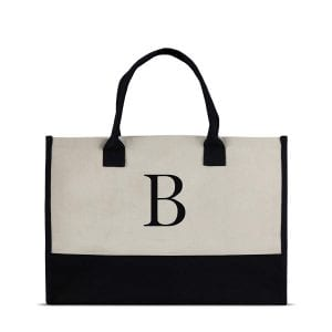 Monogram Tote Bag with 100% Cotton Canvas