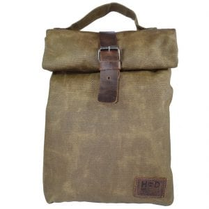Waxed Canvas Lunch Bag Handmade By Hide & Drink