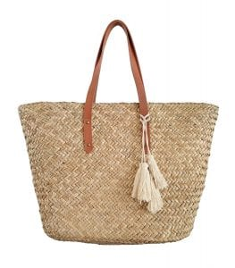 Beach'd Straw Beach Tote Shoulder Bag