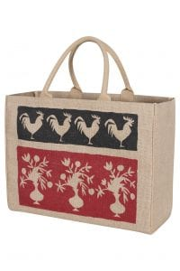 KAF Home Jute Market Tote Bag with French Market Print