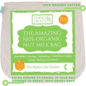 Amazing Organic Cotton Nut Milk Bag